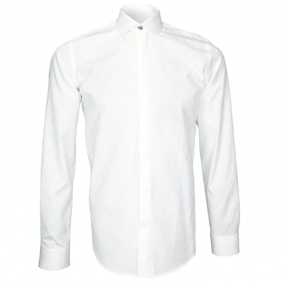 Chemise blanche jacquardWEMBLEY Andrew Mc Allister J3AM2
