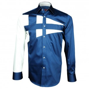 Chemise bicolore NAUTICA Andrew Mc Allister A3AM3