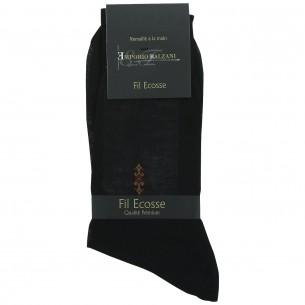 Chaussettes FIL D'ECOSSE Emporio balzani FIL-BLACK