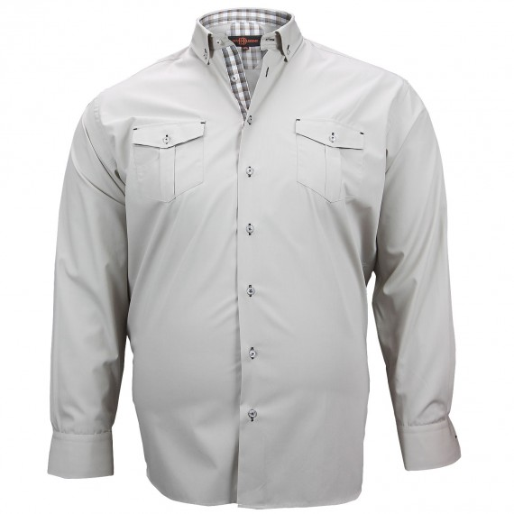 CHEMISE GRANDE TAILLE POCKET Doublissimo GT-M5DB3