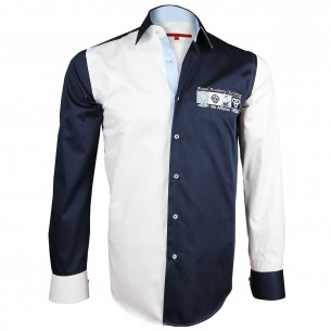 Chemise bicolore brodée R.A.Y Andrew Mc Allister Y10AM1