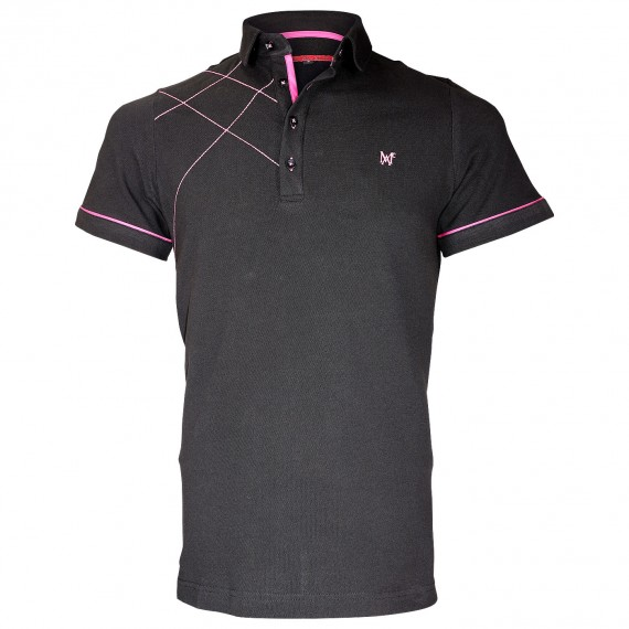 Polo brodéPLYMOUTH Andrew Mc Allister TM3-BLACK