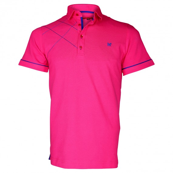 Polo brodéPLYMOUTH Andrew Mc Allister TM3-PINK