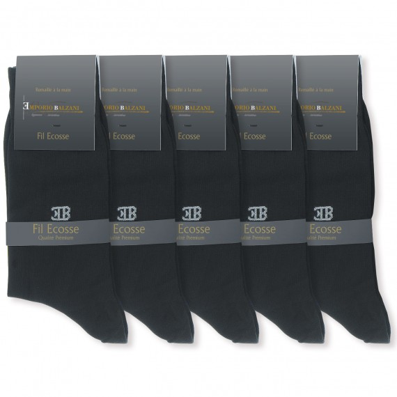 ChaussettesPACK 5 FIL D'ECOSSE Emporio balzani PK5-FILBLACK