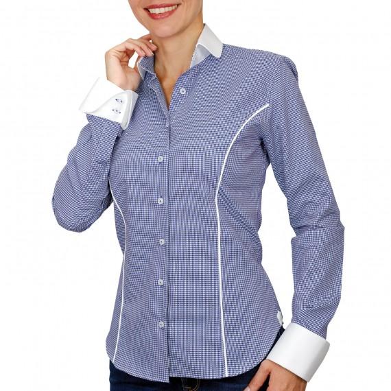 Chemise à col blanc