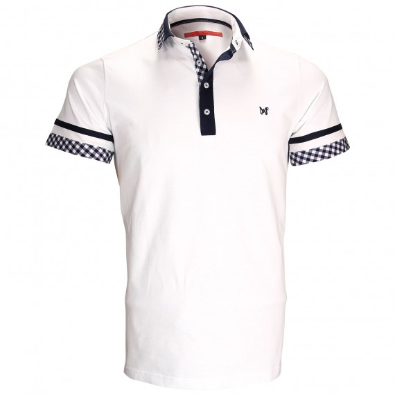 Polo modeRANDY Andrew Mac Allister ZB5-WHITE