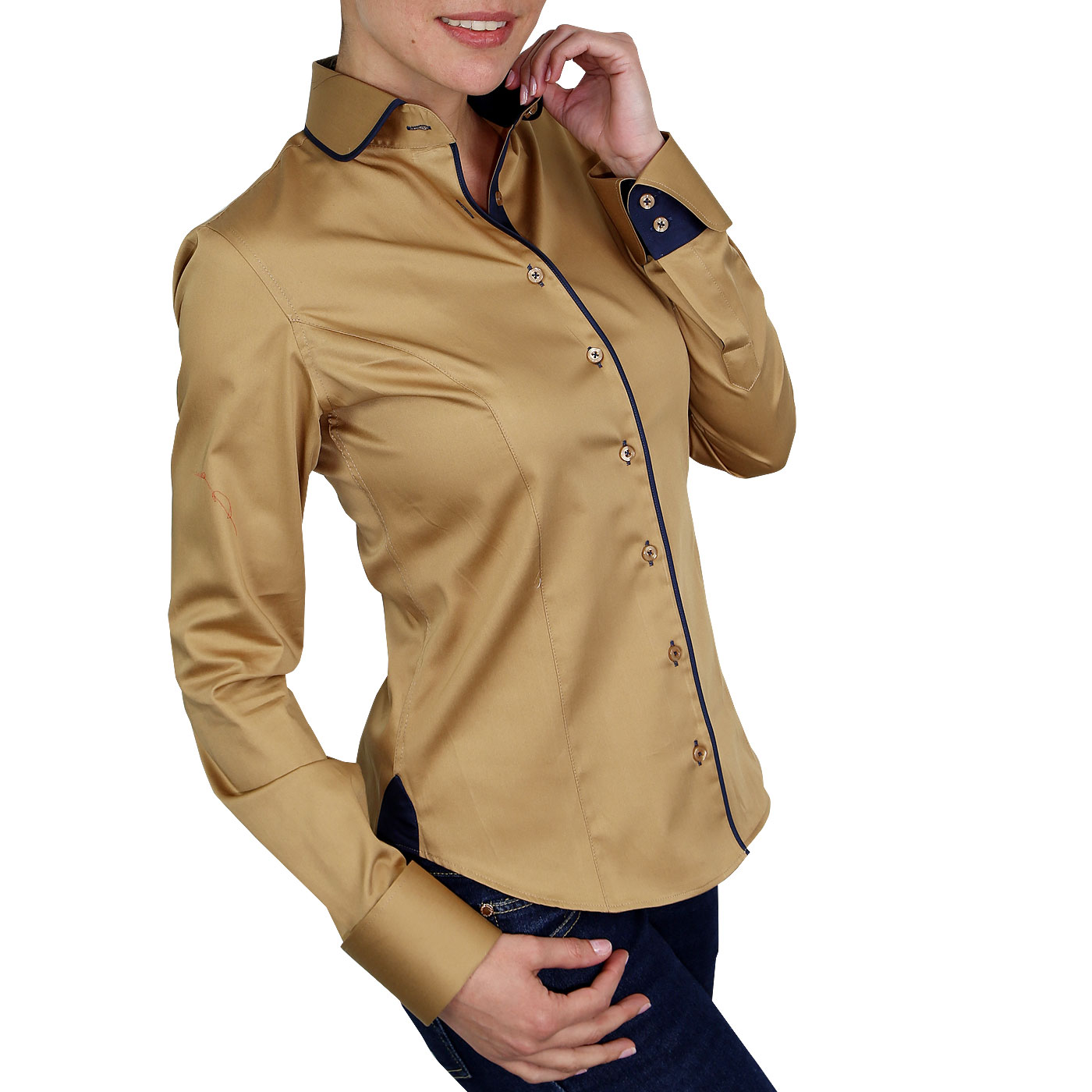 chemise femme col claudine