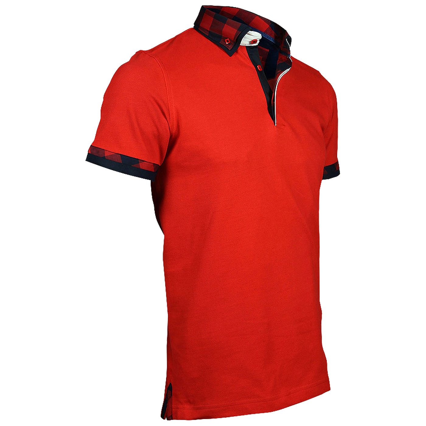 polo rouge avec col chemise