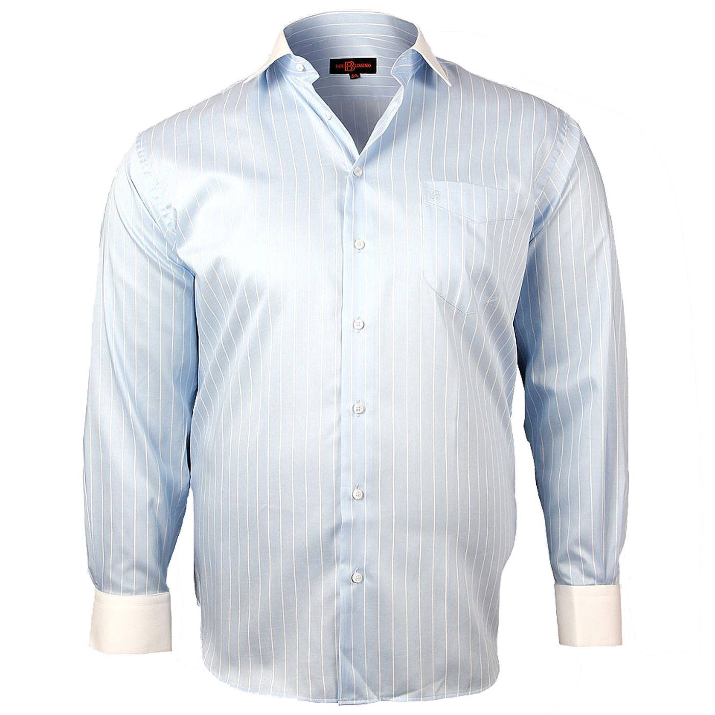 Chemise grande taille col blanc